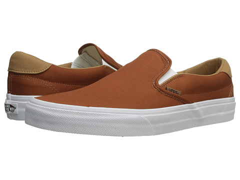 Vans - Slip-On 59 ((Brushed Twill) Ginger Bread) Skate Shoes