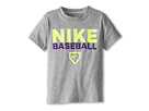 Nike Kids Nike Baseball Tee (Little Kids) (Grey Heather)