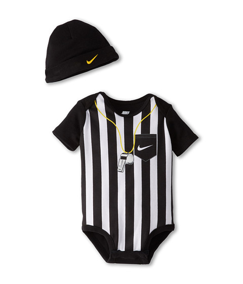 Nike Kids - Baseball Jersey Creeper (Infant) (Black) Boy's Active Sets