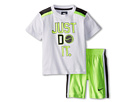Nike Kids Just Do It Baseball Short Set (Toddler) (Volt)