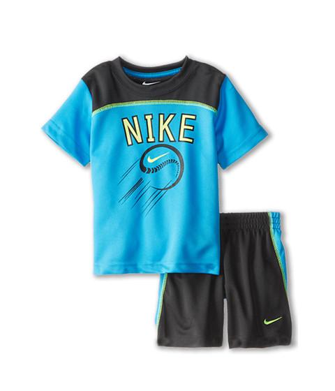 Nike Kids - Baseball Graphic Short Set (Toddler) (Anthracite) Boy's Active Sets