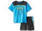 Nike Kids Baseball Graphic Short Set (Toddler) (Anthracite)