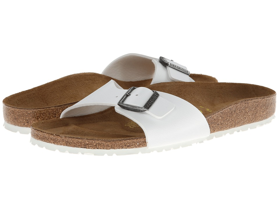 Birkenstock - Madrid (White w/ White Sole) Women's Slide Shoes