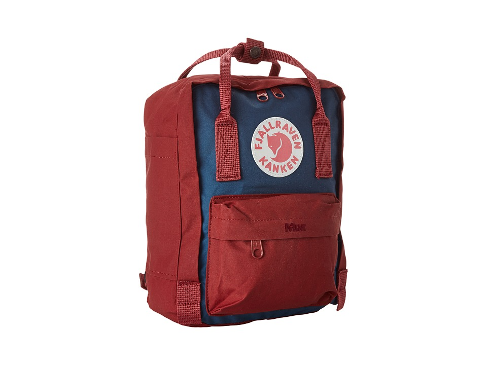 Fjallraven - Kanken Mini (Royal Blue/Ox Red) Backpack Bags