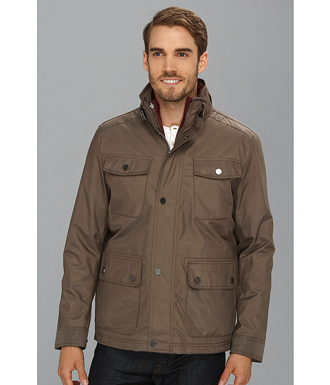 Kenneth Cole New York - Two in One Jacket (Mushroom) Men's Coat