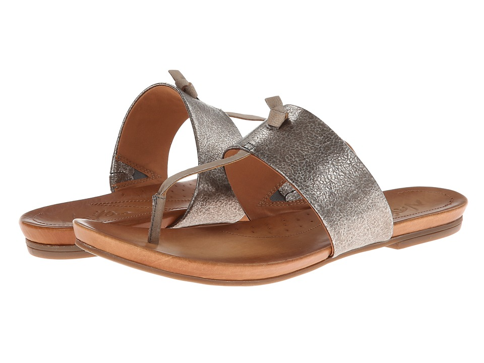 Naya - Crescent (Pewter Metallic/Mystic Grey Leather) Women's Sandals