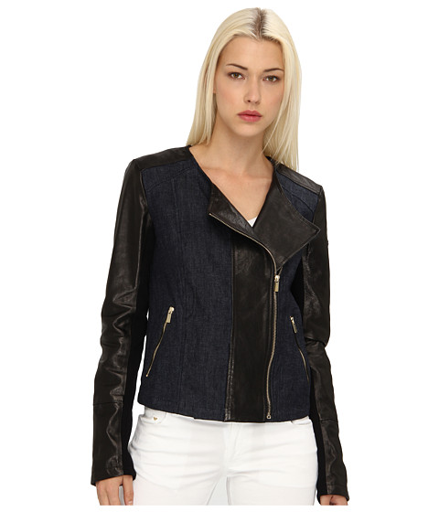 Armani Jeans - Leather And Denim Jacket (Black) Women