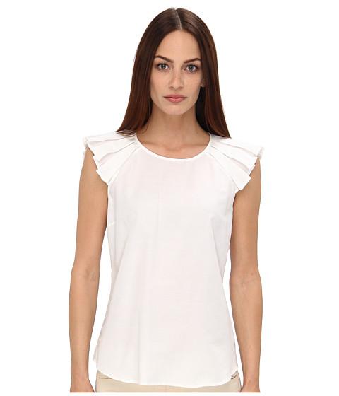 Armani Jeans - Short Sleeve Ruffle Sleeve Blouse (White) Women