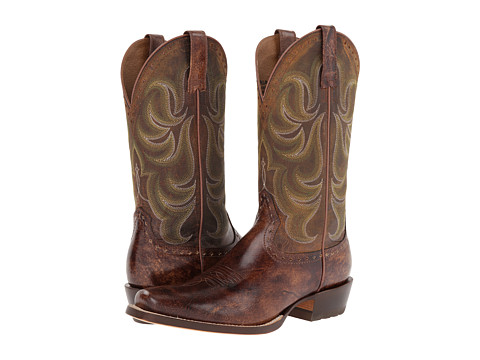 Ariat - Turnback (Weathered Buckskin/Weathered Brown) Cowboy Boots