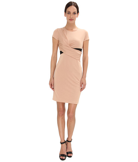 Armani Jeans - Jersey Wrap Dress With Belt (Biscotto) Women
