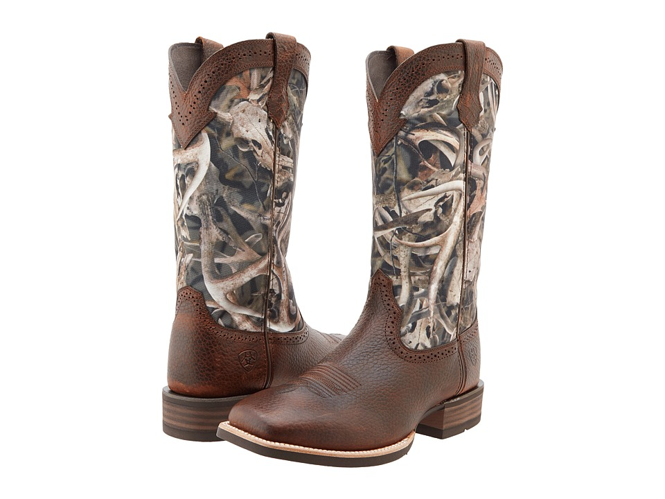 Ariat - Quickdraw (Brown Oiled Rowdy/Mini Bonz) Cowboy Boots