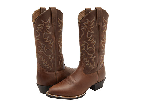 Ariat - Heritage Western R Toe (Dusty Dun) Cowboy Boots