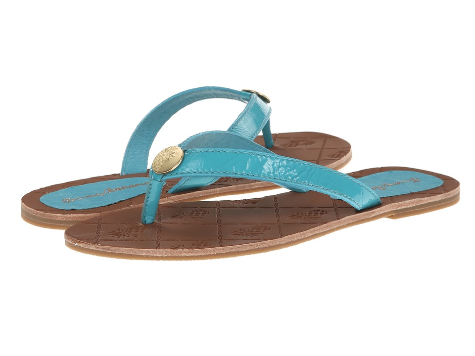 Tommy Bahama - Havana - Patent Leather (Baia Blue) Women's Sandals