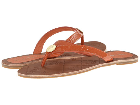 Tommy Bahama - Havana - Patent Leather (Poppy Orange) Women's Sandals