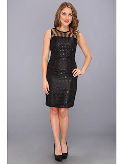 SALE! $104.99 - Save $33 on Calvin Klein Sheath Dress w Illusion Top CD3L11S7 (Black Black) Apparel - 23.92% OFF $138.00