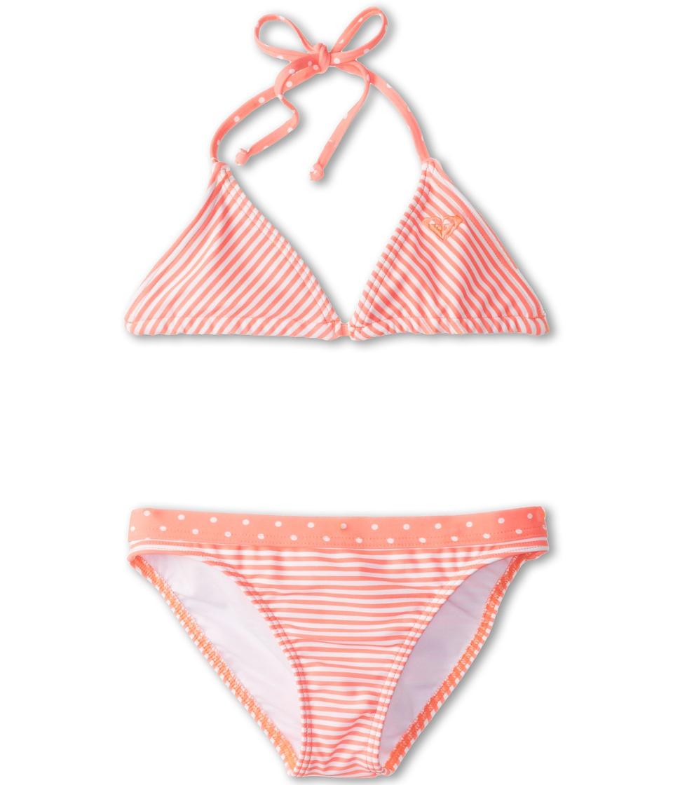 Roxy Kids Doll Face Tiki Tri Set Girls Swimwear Sets (Orange)