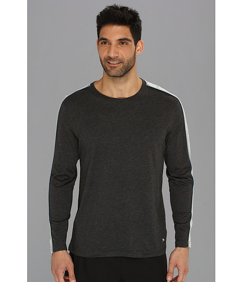Tommy Bahama - Heather L/S Crew Neck (Black) Men's Long Sleeve Pullover