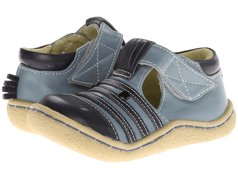 Livie & Luca - Zebra (Toddler) (Blue) Kid's Shoes