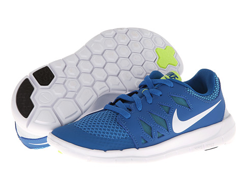Nike Kids - Free 5 (Little Kid) (Military Blue/Polarized Blue/Midnight Navy/White) Kids Shoes