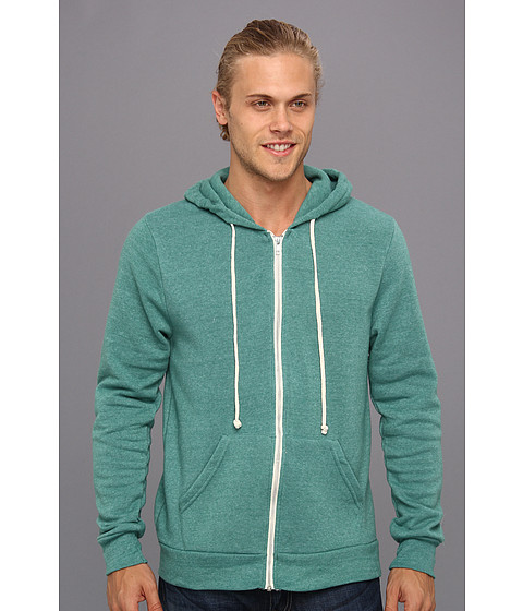 Alternative - Rocky Zip Hoodie (Eco True Viridian) Men's Sweatshirt