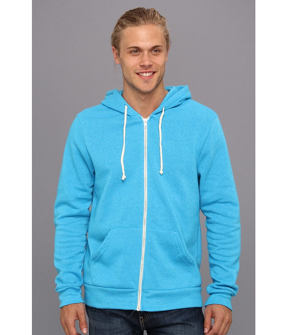 Alternative - Rocky Zip Hoodie (Eco True Vivid Blue) Men's Sweatshirt