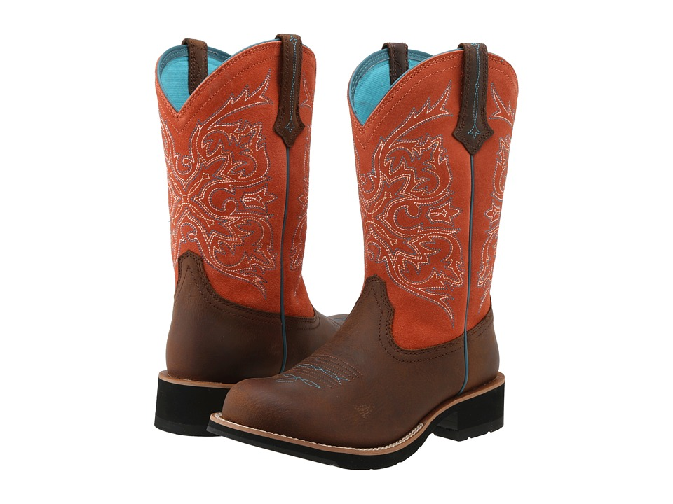 Ariat - Fatbaby Cowgirl Tall (Tanned Copper/Peach) Women's Boots
