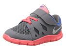 Nike Kids Free 5 (Infant/Toddler) (Dark Grey/Laser Crimson/Kumquat/White)