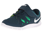 Nike Kids Free 5 (Infant/Toddler) (Nightshade/Turbo Green/Volt/White) Kids Shoes