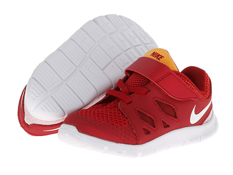Nike Kids - Free 5 (Infant/Toddler) (Gym Red/Lt Crimson/Kumquat/White) Kids Shoes