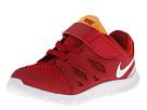 Nike Kids Free 5 (Infant/Toddler) (Gym Red/Lt Crimson/Kumquat/White)