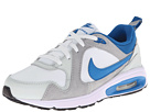 Nike Kids Air Max Trax (Little Kid) (White/Wolf Grey/Light Base Grey/Military Blue) Boys Shoes