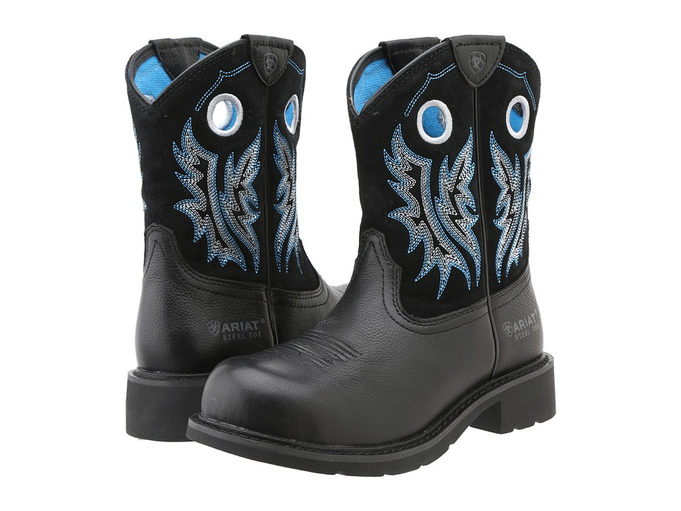 Ariat - Fatbaby Cowgirl Steel Toe (Black Deertan/Black) Cowboy Boots