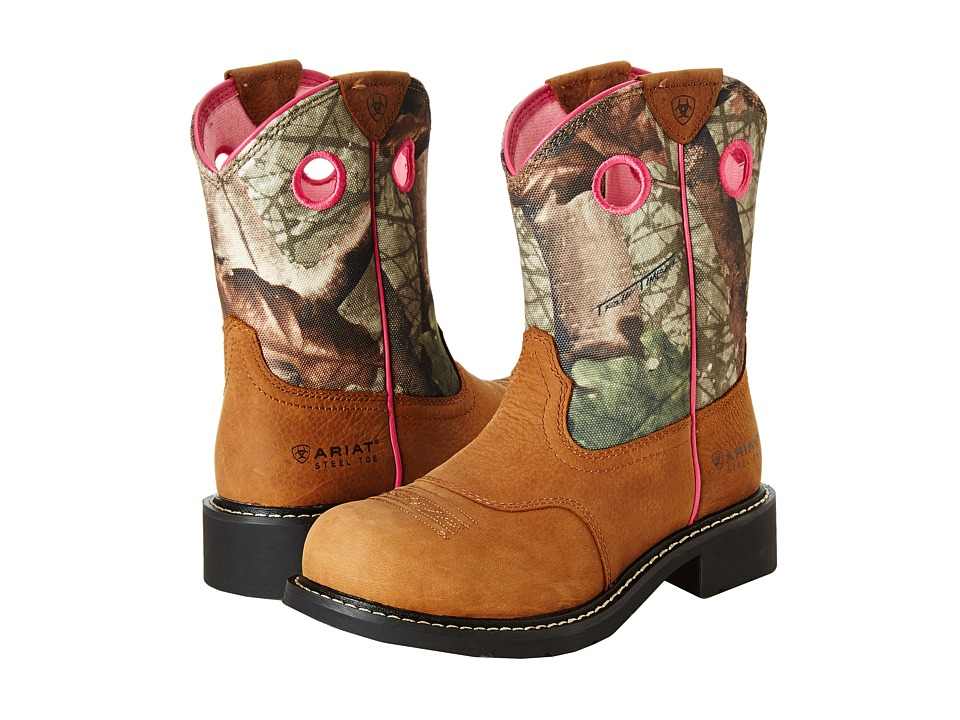 Ariat Fatbaby Cowgirl Steel Toe (Toasted Auburn/Camo) Cowboy Boots