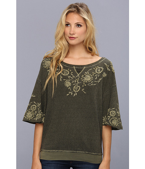 Discount clothing stores Free People Fairy Flare Pullover (Fatigue) Women's Clothing