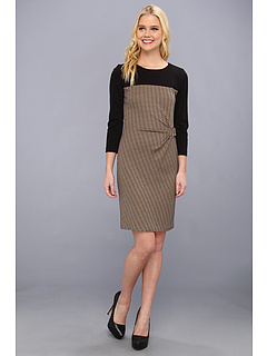SALE! $42.99 - Save $105 on Tahari by ASL Vince V Dress (Black Natural) Apparel - 70.95% OFF $148.00
