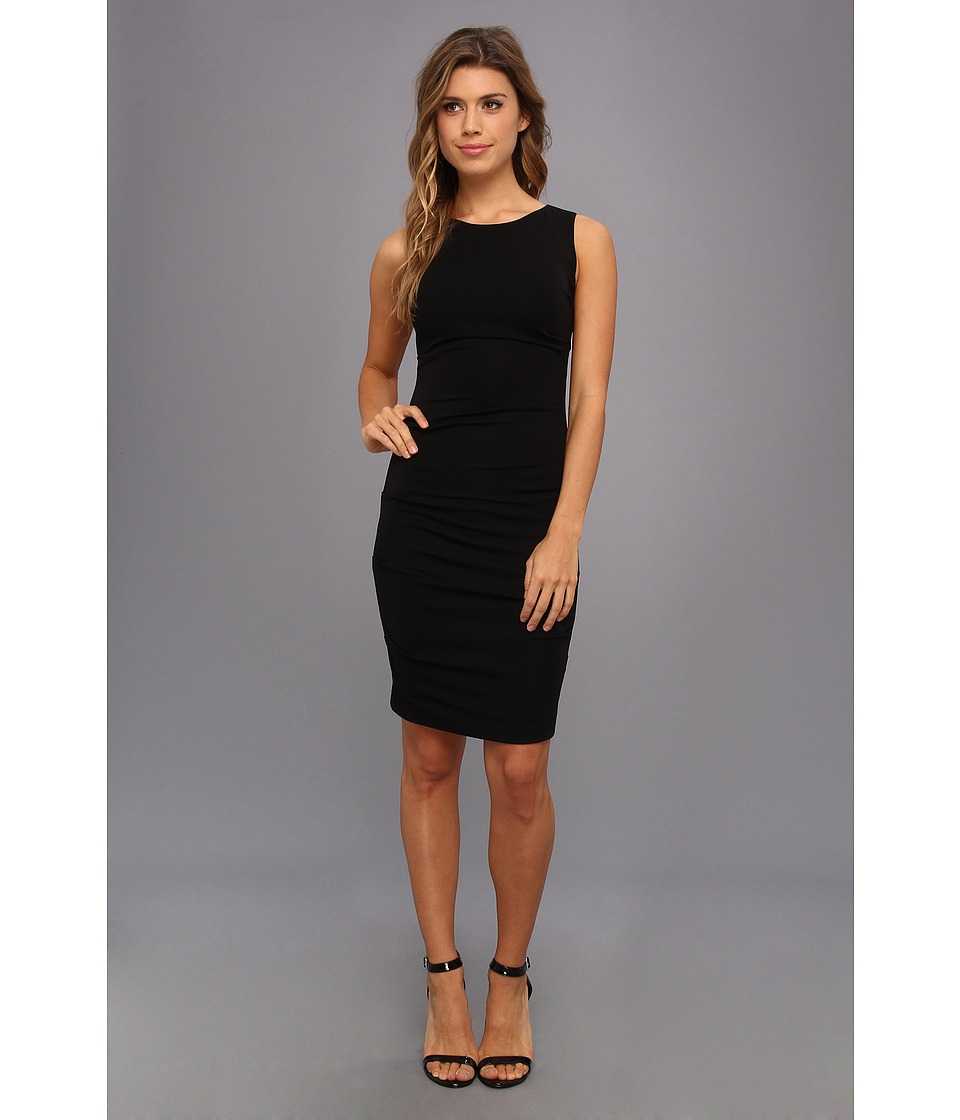 Nicole Miller Lauren Stretchy Matte Jersey Sheath (Black) Women