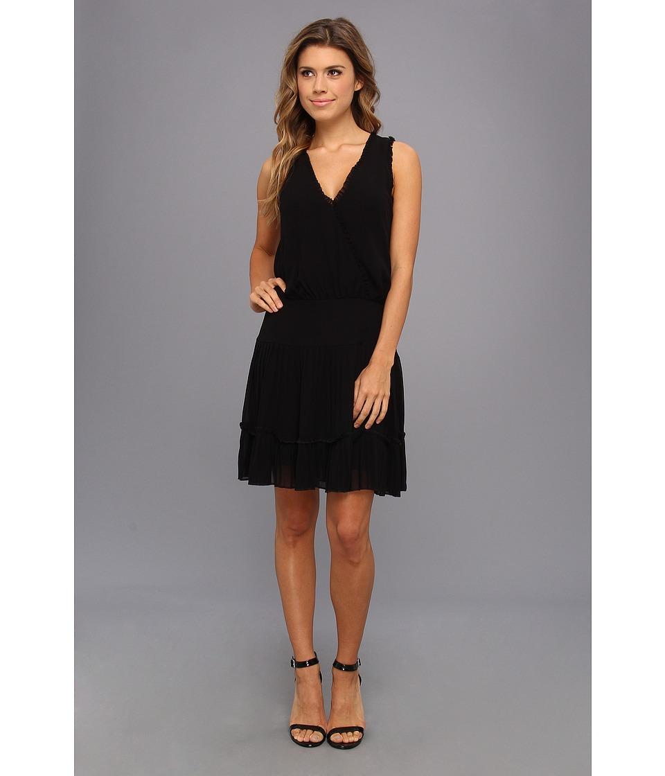 Nicole Miller Kira Pleated Dress Womens Dress (Black)
