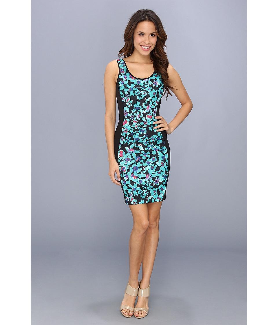 Nicole Miller Vinca Neoprene Dress Womens Dress (Green)