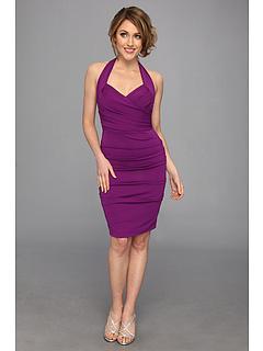 SALE! $96.99 - Save $223 on Nicole Miller Stretchy Matte Jersey Halter Dress (Byzantium) Apparel - 69.69% OFF $320.00