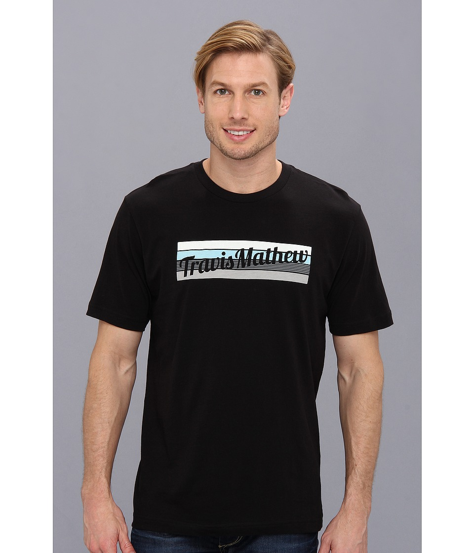 TravisMathew - Knockout T-Shirt (Black) Men's Short Sleeve Pullover