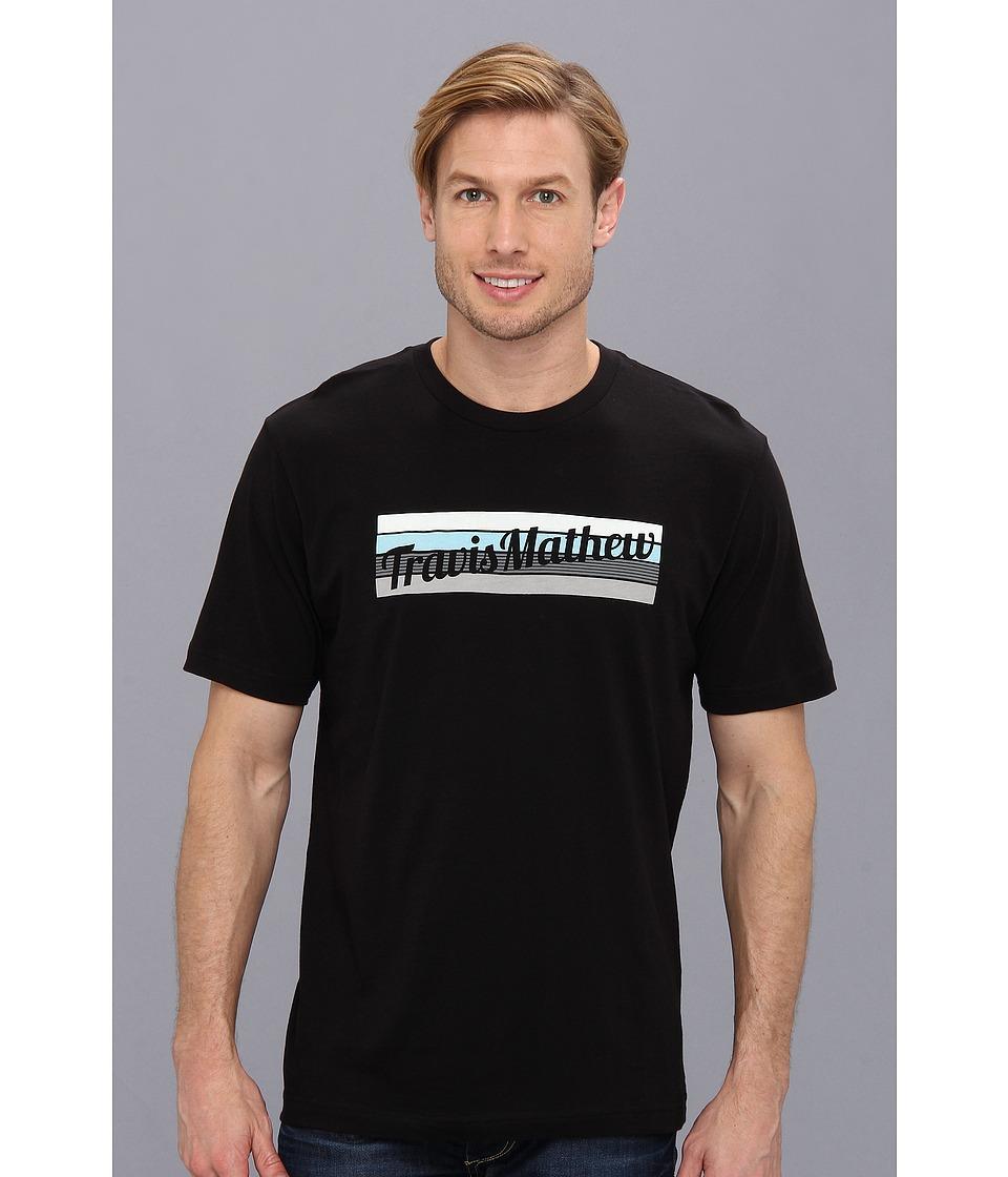 TravisMathew - Knockout T-Shirt (Black) Men's Short Sleeve Pullover