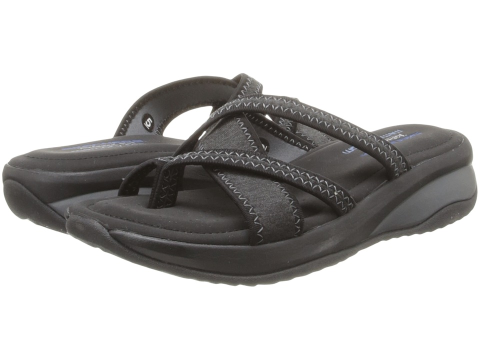 SKECHERS - Promotes-Excellence (Black/Charcoal) Women's Sandals
