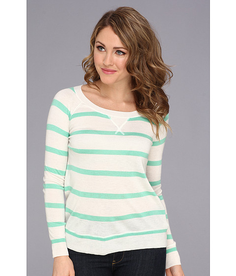 Splendid - Cashmere Blend Pullover (Green/White) Women's Sweater