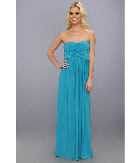 Jessica Simpson - Twist Bust Maxi Gown (Blue) Women