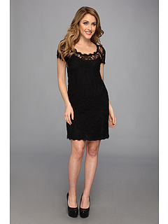 SALE! $99.99 - Save $145 on Nicole Miller Abby Placement Lace Dress (Black) Apparel - 59.19% OFF $245.00