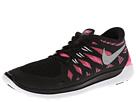 Nike Kids Free 5.0 (Big Kid) (Black/Pink Glow/White/Metallic Silver)