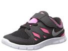 Nike Kids Free 5 (Infant/Toddler) (Black/Pink Glow/White/Metallic Silver)