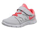 Nike Kids Free 5 (Infant/Toddler) (Pure Platinum/White/Laser Crimson)