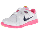 Nike Kids Flex Experience LTR (Little Kid) (White/Pink Glow/Atomic Mango/Midnight Navy) Girls Shoes