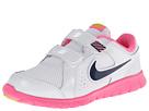 Nike Kids Flex Experience LTR (Little Kid) (White/Pink Glow/Atomic Mango/Midnight Navy)